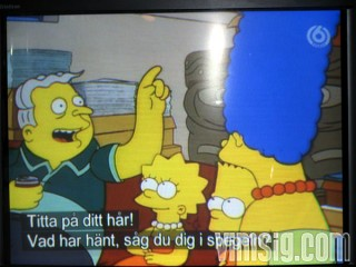 16.22 - tittar på simpsons