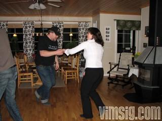 Mattias och I dansar