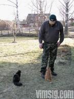 mattias leker med katterna