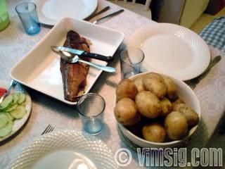 lax och potatis