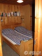 Ett av de tre sovrummen.