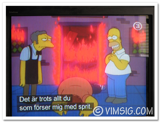 tittar på simpsons