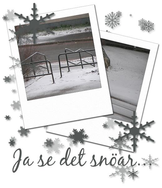 ja se det snöar...
