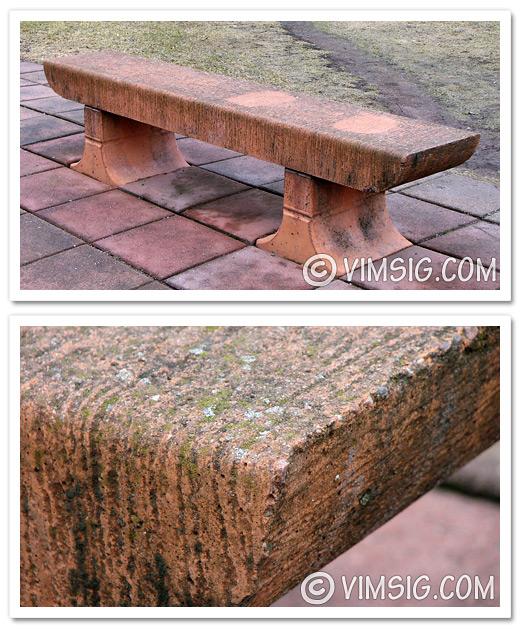 tema: naturmaterial: stenbänk