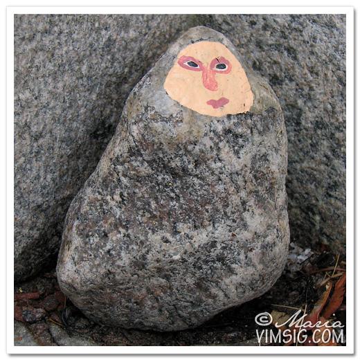 någon som dekorerat en sten
