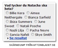natachas nya namn?