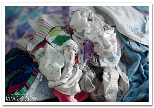 massor med tvätt