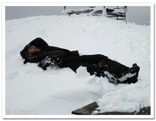 Mattias slappar i snön