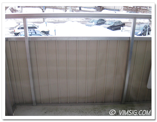 inifrån och ut på min balkong