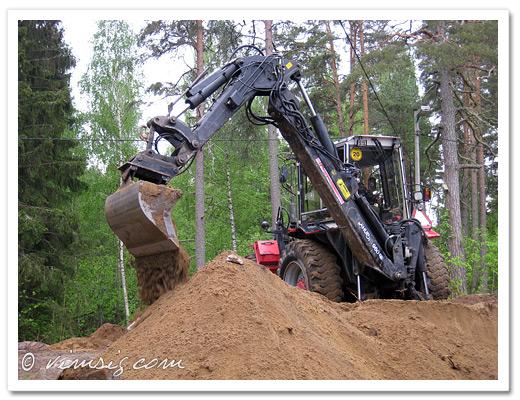 gräver för fullt