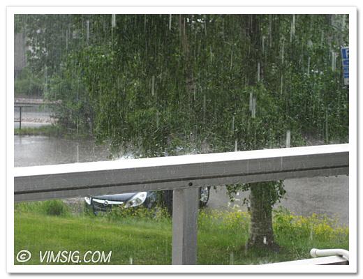regnvädret från helvetet och teknikdöden