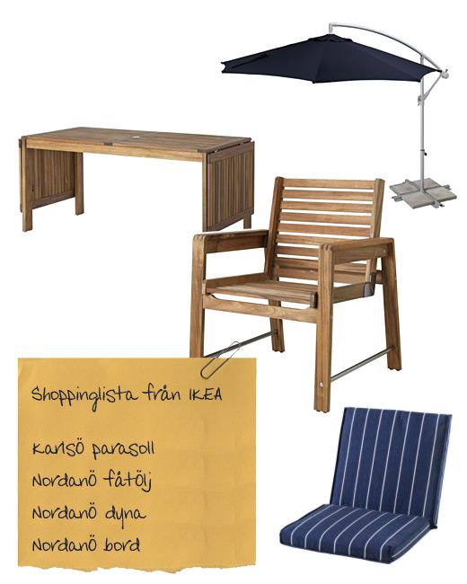 möbler från ikea till uteplatsen
