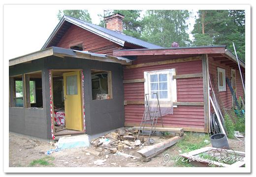 köksväggen klar och sovrumsväggen reglad