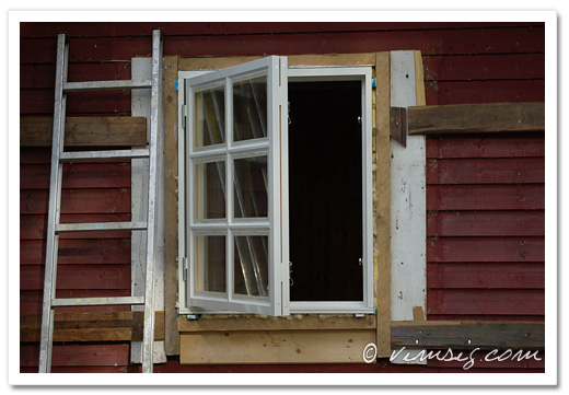 nymålat fönster