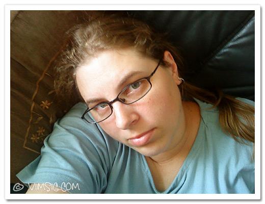 jag slappar i soffan med dottern