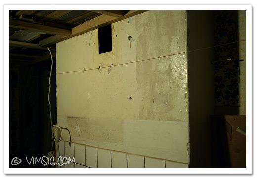 gammal målarfärg på muren