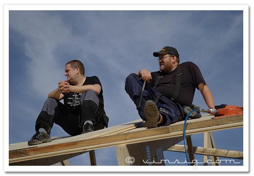 niclas och mattias på taket