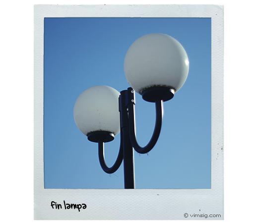 lampa i sol