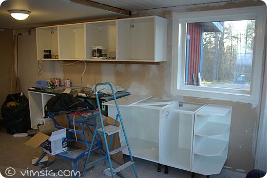 en vägg i köket