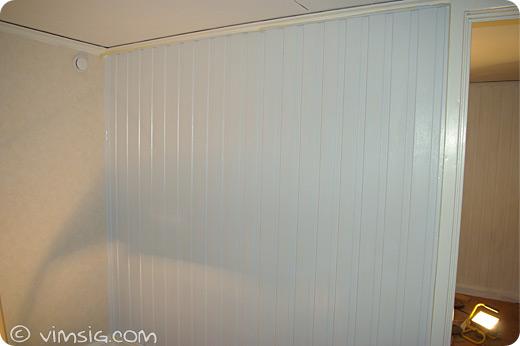 nymålad vägg