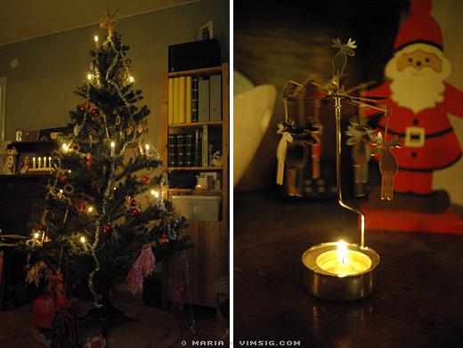 julgran och älgaspel