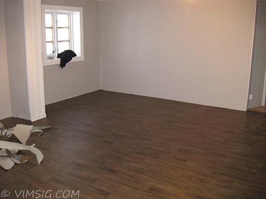 golv i vardagsrummet