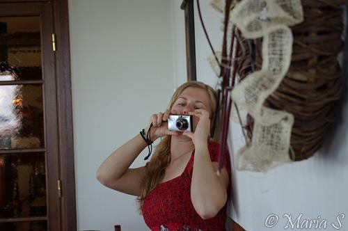 fotograferande Johanna