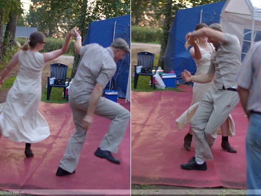 cattis och johan dansar