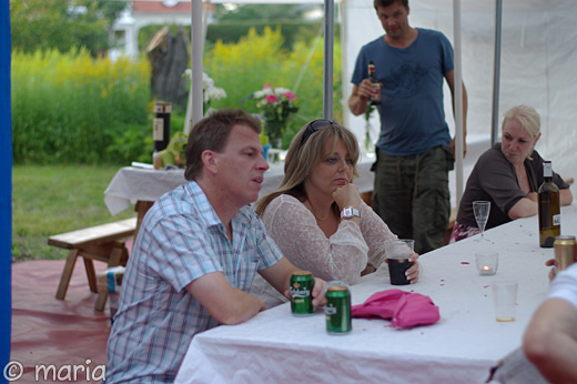 Henke, Mona och lite längre bort Björn och min svärkusin Anna.