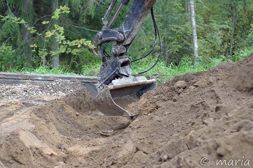 grävning på gång
