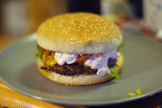 mattias har stekt hamburgare