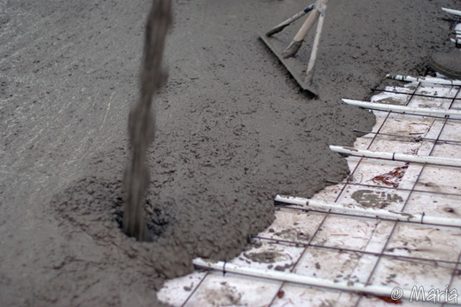 betong täcker slang
