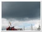 Hotande moln, men inte mycket regn.