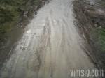 väldigt lerig väg