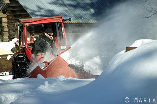 snöslunga på traktor