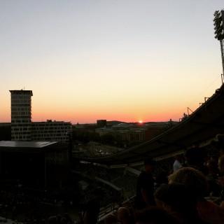 Solnedgång på Ullevi.