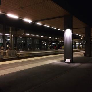 Tågbyte i Uppsala.